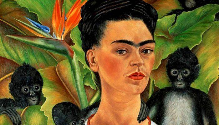 Autorretrato con monos (1943)
